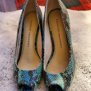 🛑sale🛑Chinese laundry shoes snake skin